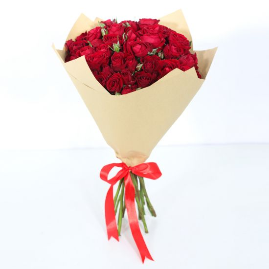 Bouquet of Red Spray Roses