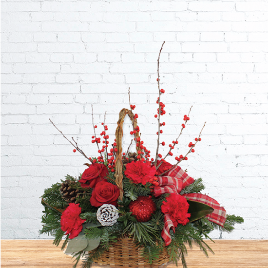 Basket of Fresh Wreath With Decor