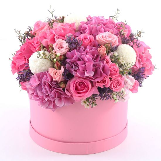 Box of Pink Lavish Flowers