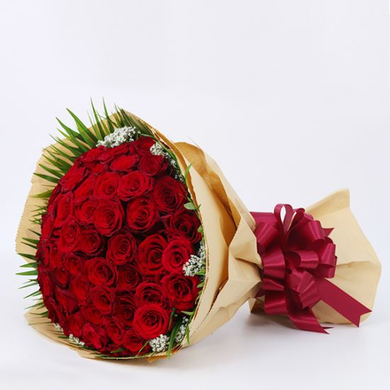 beautiful Bouquet of 50 Red Roses
