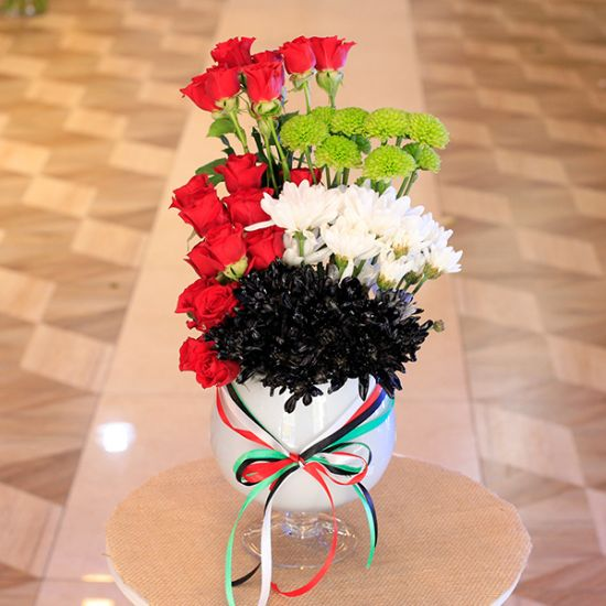 UAE Flag Flower Arrangement in Center Piece