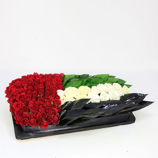 UAE Flag Flower Wave Arrangement