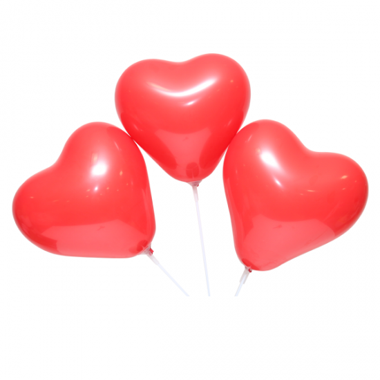 Romantic Red Shape 3 Balloons