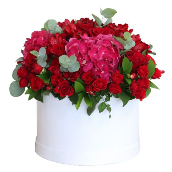 Majestic Blooms in White Box