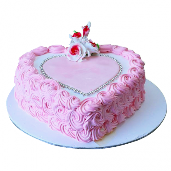 Heart of Rose Swirl Cake online delivery