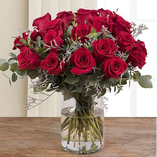 Love of 24 Red Roses in Vase