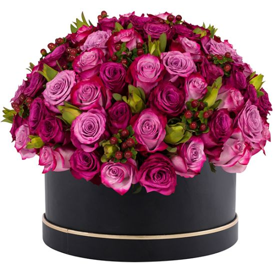 Signature Box of Purple Roses