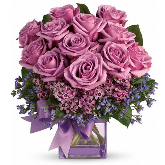 Lavender Love Rose in Designer Vase