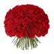 100 Red Roses with Hand Tied Bouquet