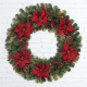 Natural Christmas Wreath with Poinsettias in UAE