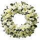 Wreath - All White Flowers